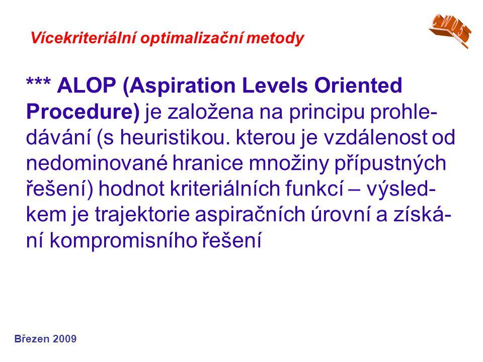 *** ALOP (Aspiration Levels Oriented Procedure) je založena na principu prohle- dávání (s heuristikou. kterou je vzdálenost od nedominované hranice mn