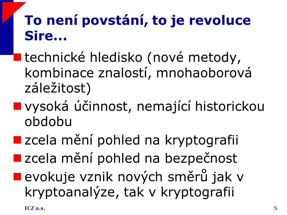ICZ a.s.5 To není povstání, to je revoluce Sire...