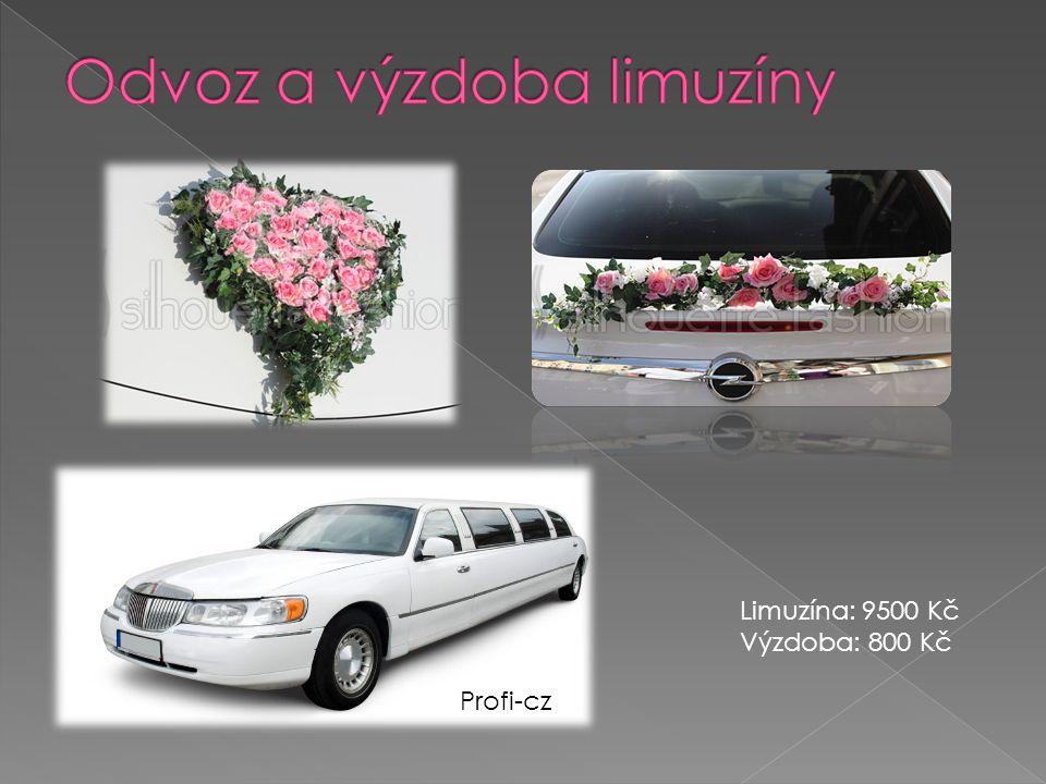 Profi-cz Limuzína: 9500 Kč Výzdoba: 800 Kč
