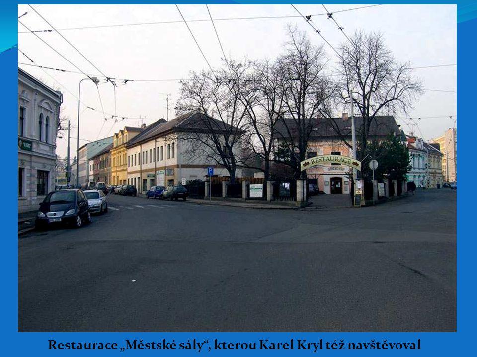 """Restaurace """"Městské sály"""", kterou Karel Kryl též navštěvoval"""