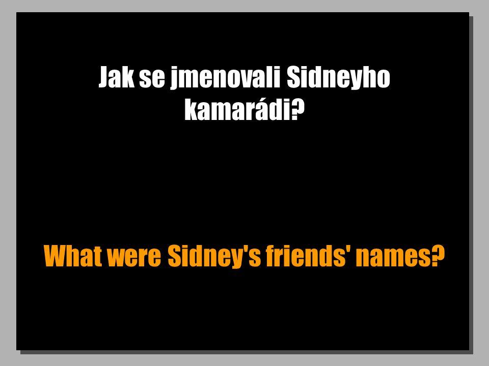 Jak se jmenovali Sidneyho kamarádi What were Sidney s friends names