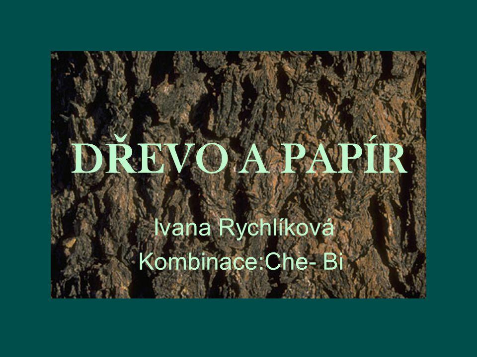 D Ř EVO A PAPÍR Ivana Rychlíková Kombinace:Che- Bi