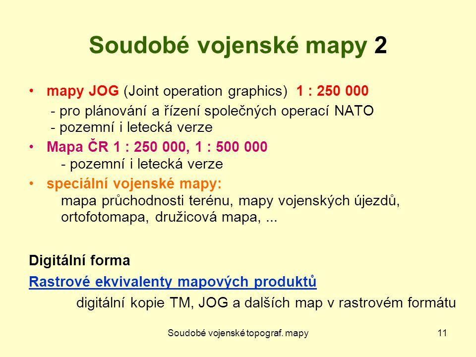 Soudobé vojenské topograf.