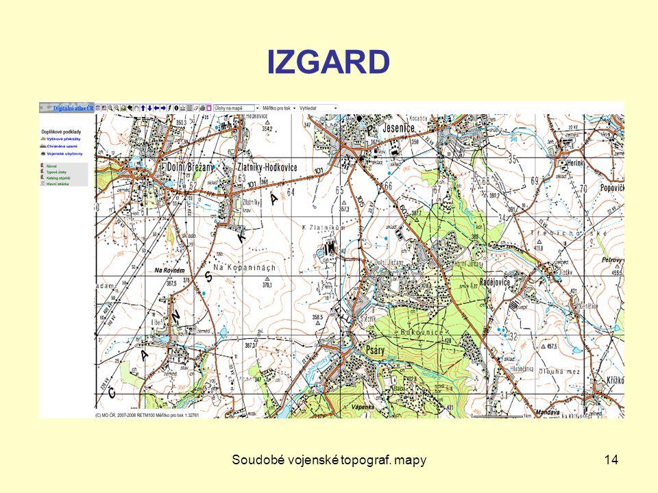 Soudobé vojenské topograf. mapy14 IZGARD