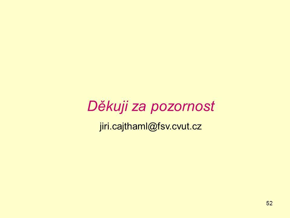52 Děkuji za pozornost jiri.cajthaml@fsv.cvut.cz