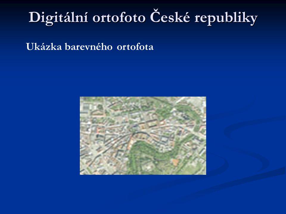 Digitální ortofoto České republiky Ukázka barevného ortofota