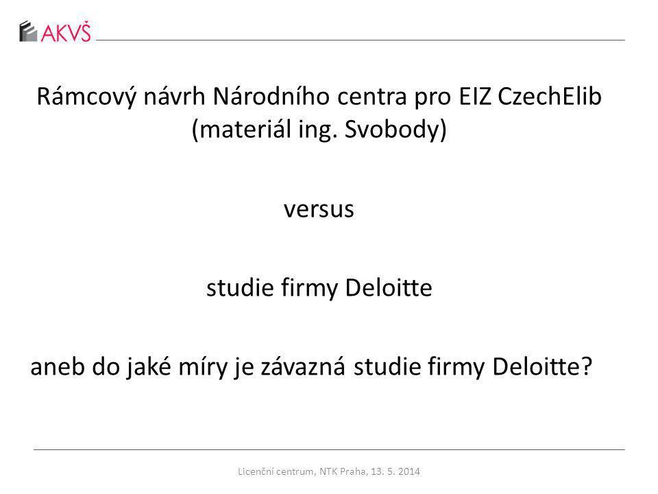 Rámcový návrh Národního centra pro EIZ CzechElib (materiál ing.