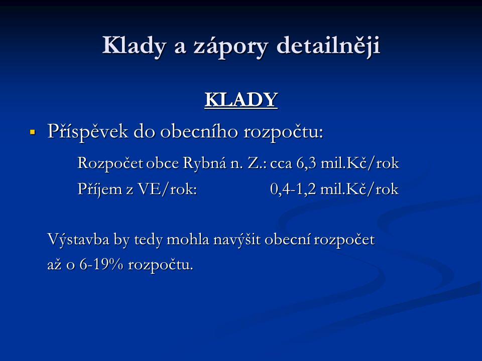 KLADY  Příspěvek do obecního rozpočtu: Rozpočet obce Rybná n.