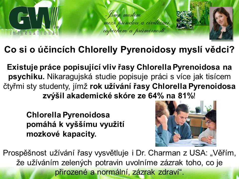 Co si o účincích Chlorelly Pyrenoidosy myslí vědci? Existuje práce popisující vliv řasy Chlorella Pyrenoidosa na psychiku. Nikaragujská studie popisuj