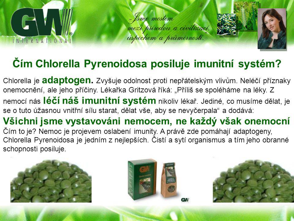 Čím Chlorella Pyrenoidosa posiluje imunitní systém? Chlorella je adaptogen. Zvyšuje odolnost proti nepřátelským vlivům. Neléčí příznaky onemocnění, al