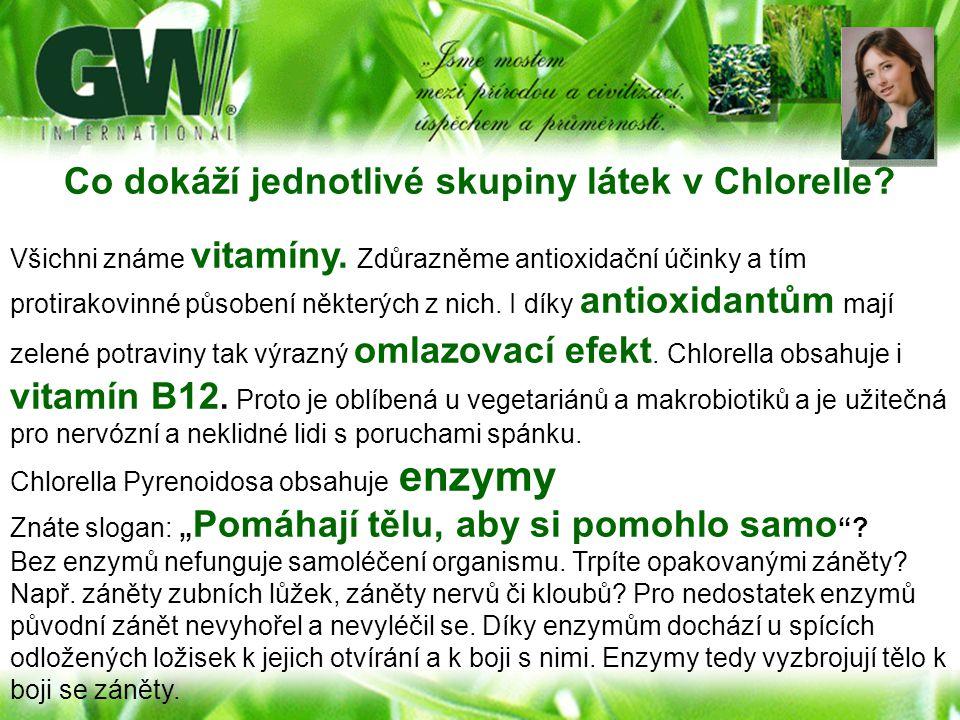 Co dokáží jednotlivé skupiny látek v Chlorelle? Všichni známe vitamíny. Zdůrazněme antioxidační účinky a tím protirakovinné působení některých z nich.