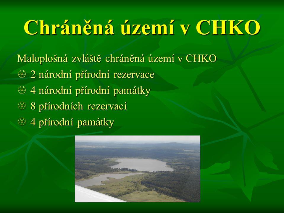 Chráněná území v CHKO Maloplošná zvláště chráněná území v CHKO  2 národní přírodní rezervace  4 národní přírodní památky  8 přírodních rezervací  4 přírodní památky