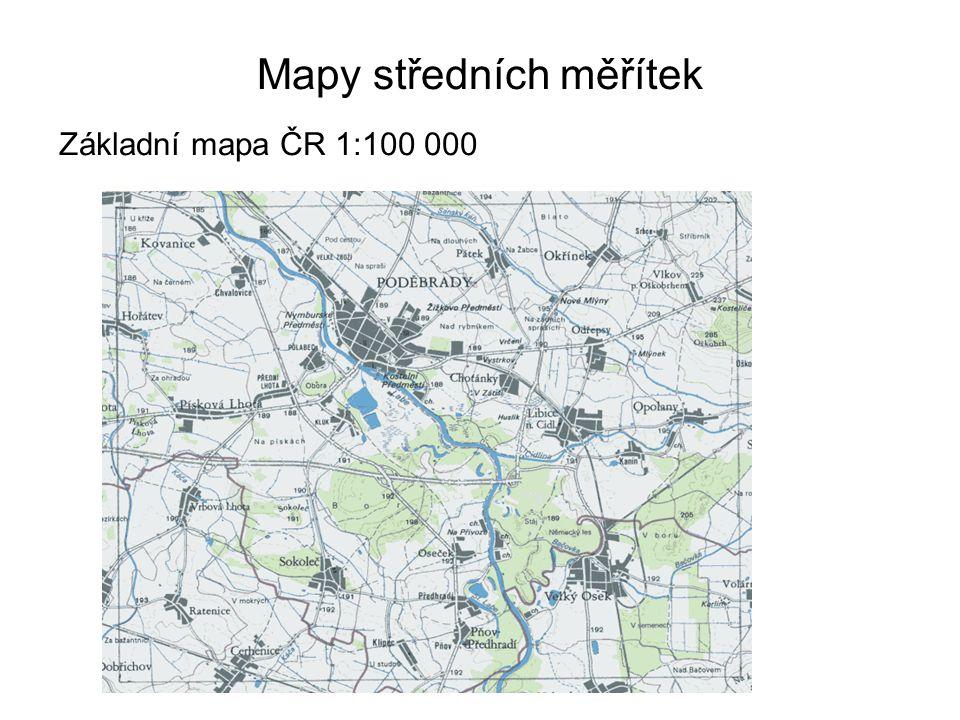 Mapy středních měřítek Základní mapa ČR 1:100 000