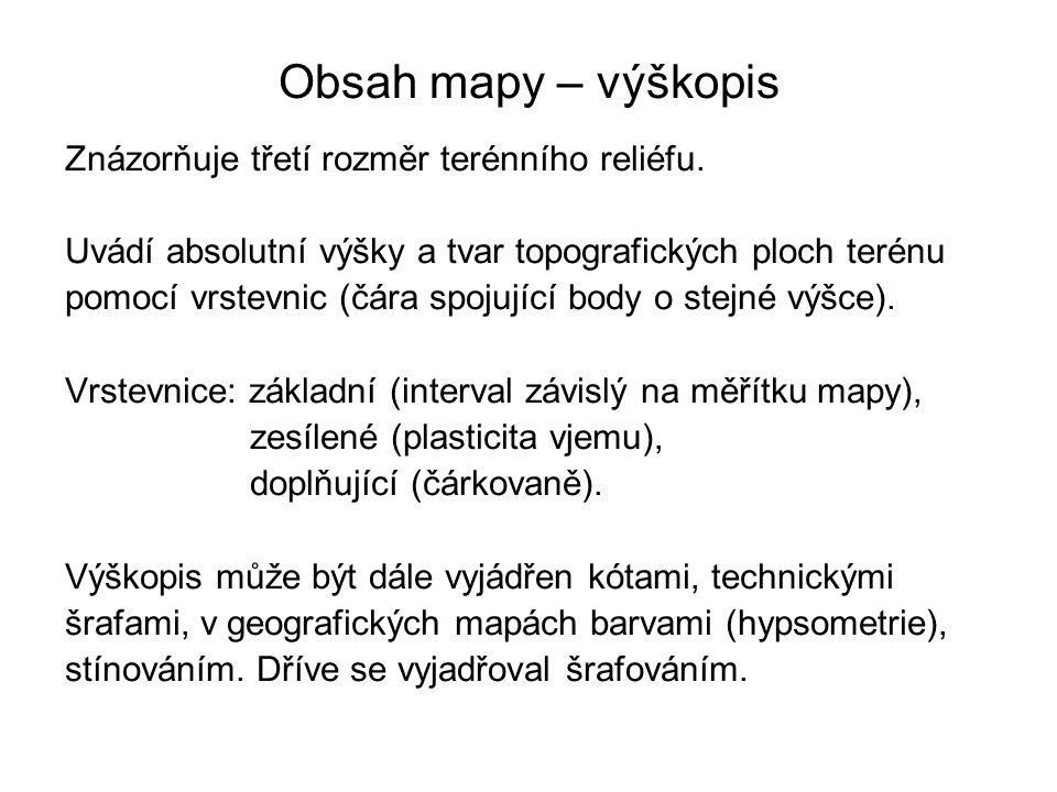 Mapy středních měřítek ZM ČR 1 : 50 000 Obsahuje polohopis, výškopis a popis.