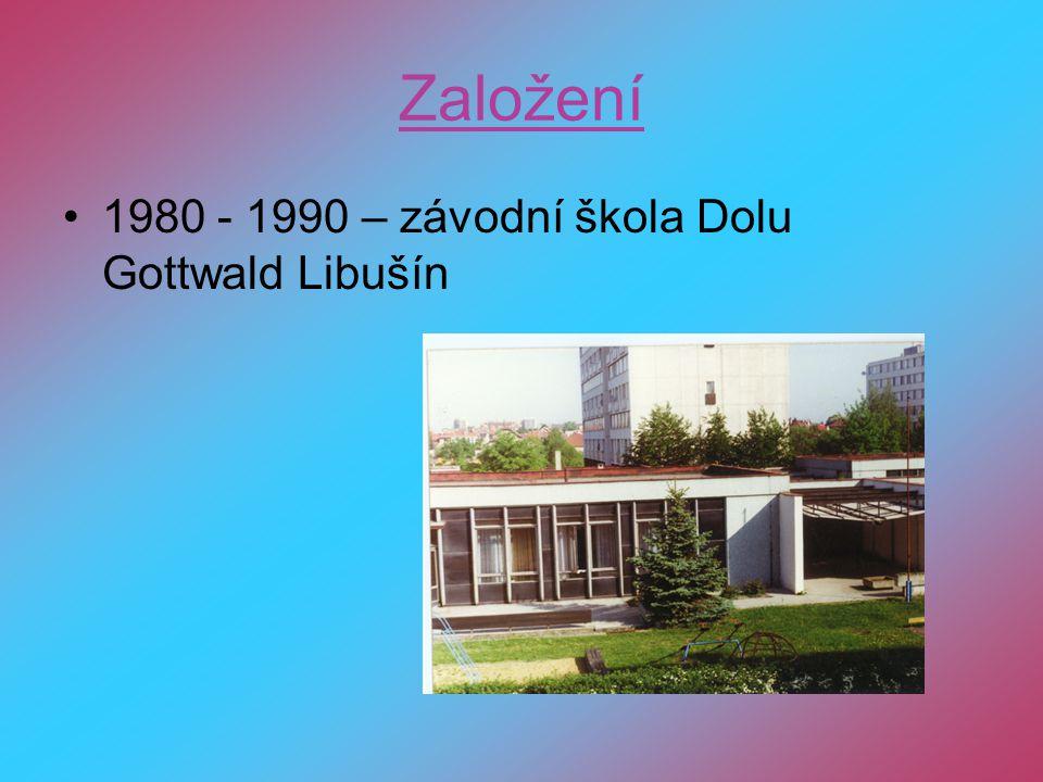 Založení 1980 - 1990 – závodní škola Dolu Gottwald Libušín