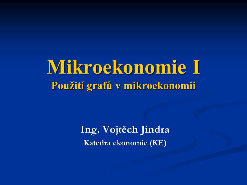 Mikroekonomie I Použití grafů v mikroekonomii Ing. Vojtěch JindraIng. Vojtěch Jindra Katedra ekonomie (KE)Katedra ekonomie (KE)