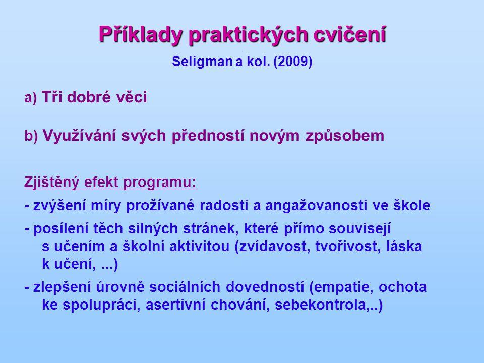 Příklady praktických cvičení Příklady praktických cvičení.