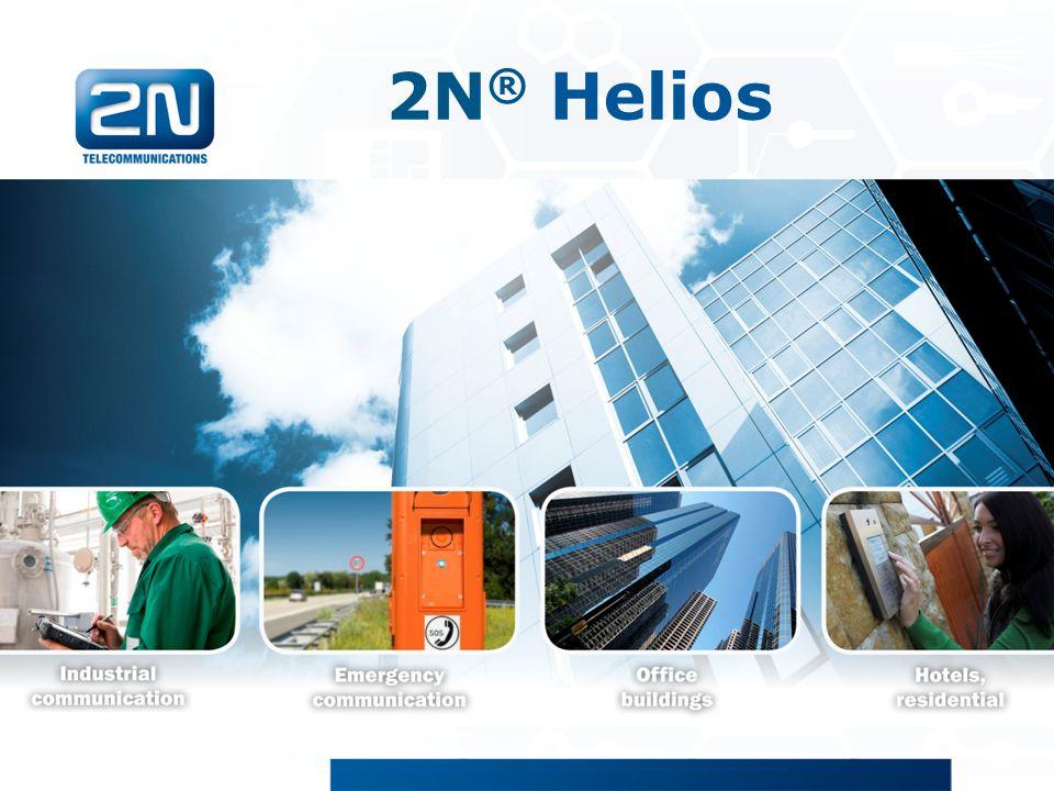 2N ® Helios 2N Helios/Helios IP produktová prezentace