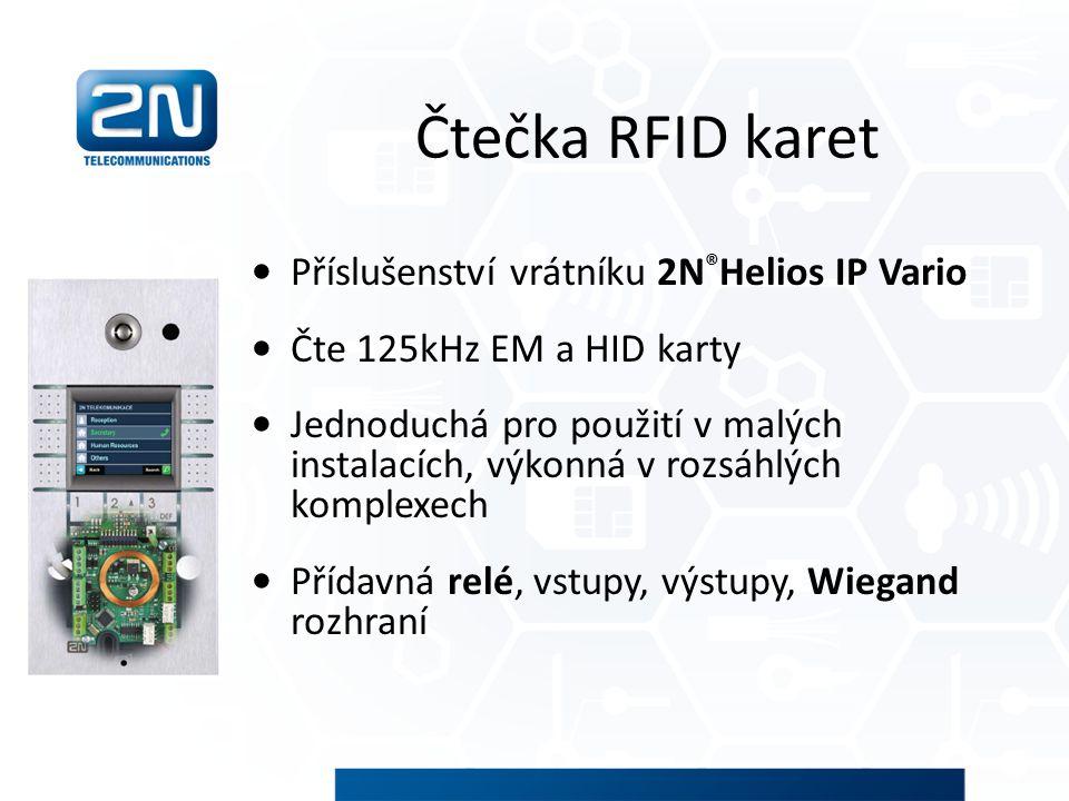 Čtečka RFID karet Příslušenství vrátníku 2N ® Helios IP Vario Čte 125kHz EM a HID karty Jednoduchá pro použití v malých instalacích, výkonná v rozsáhl