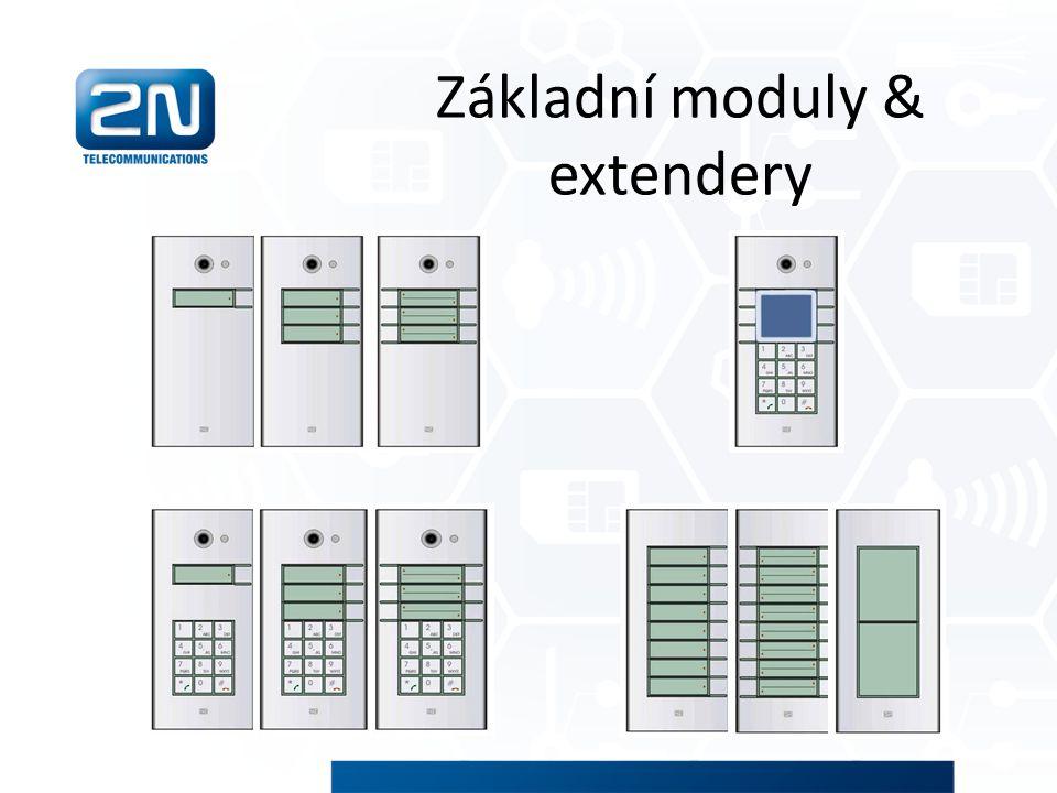 Základní moduly & extendery