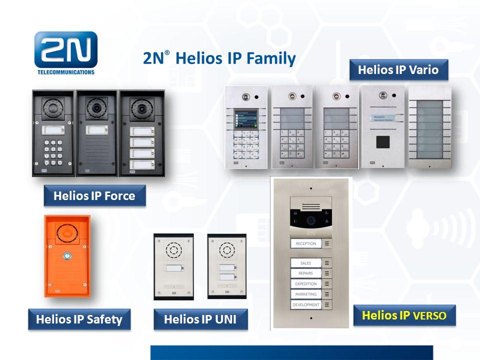 Čtečka RFID karet Příslušenství vrátníku 2N ® Helios IP Force Čte 125kHz EM a HID karty Jednoduchá pro použití v malých instalacích, výkonná v rozsáhlých komplexech Přídavná relé, vstupy, výstupy, Wiegand rozhraní, ochranný spínač