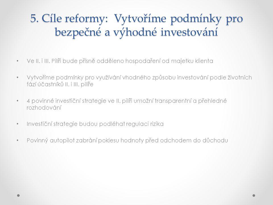 5.Cíle reformy: Vytvoříme podmínky pro bezpečné a výhodné investování Ve II.