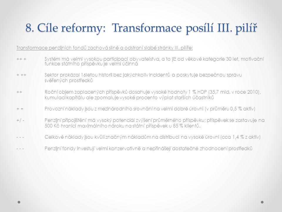 8.Cíle reformy: Transformace posílí III.