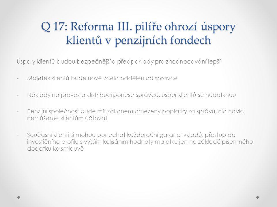 Q 17: Reforma III.
