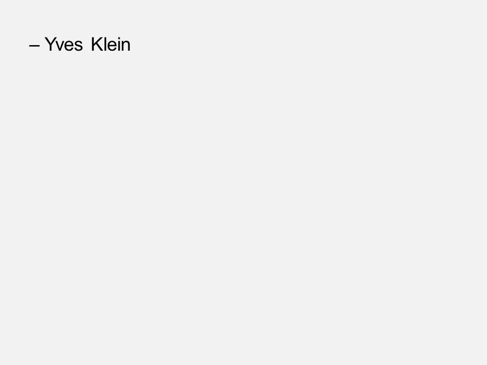 –Yves Klein