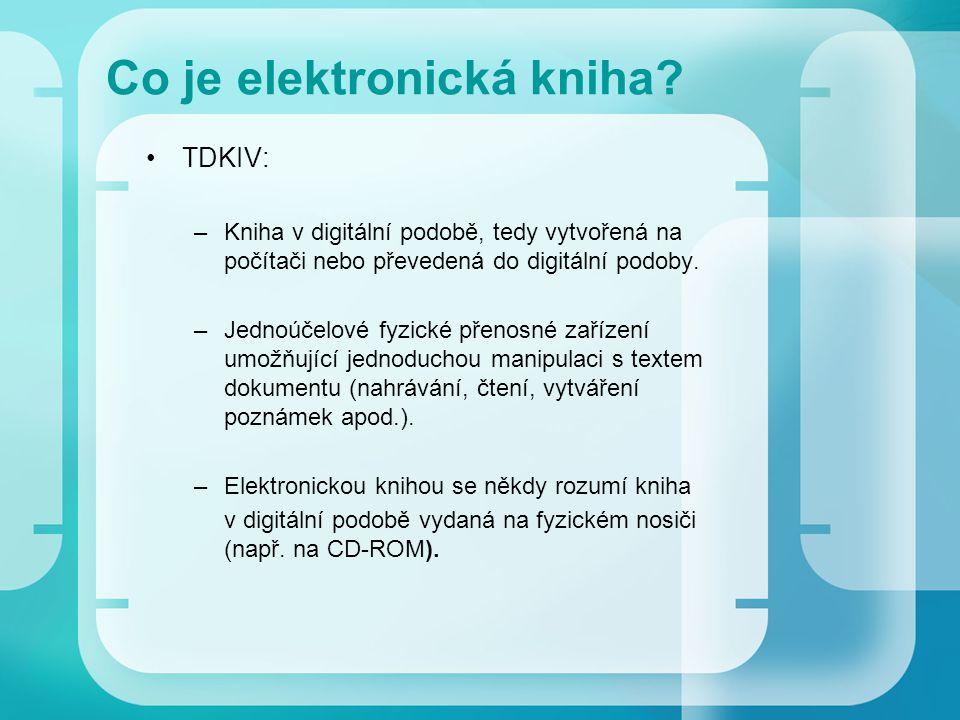 Co je elektronická kniha.
