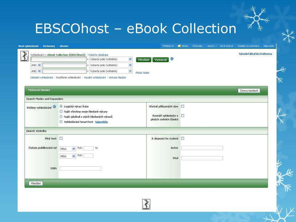 Osobní účet v rámci EBSCOhost  K čemu je dobré mít osobní účet.