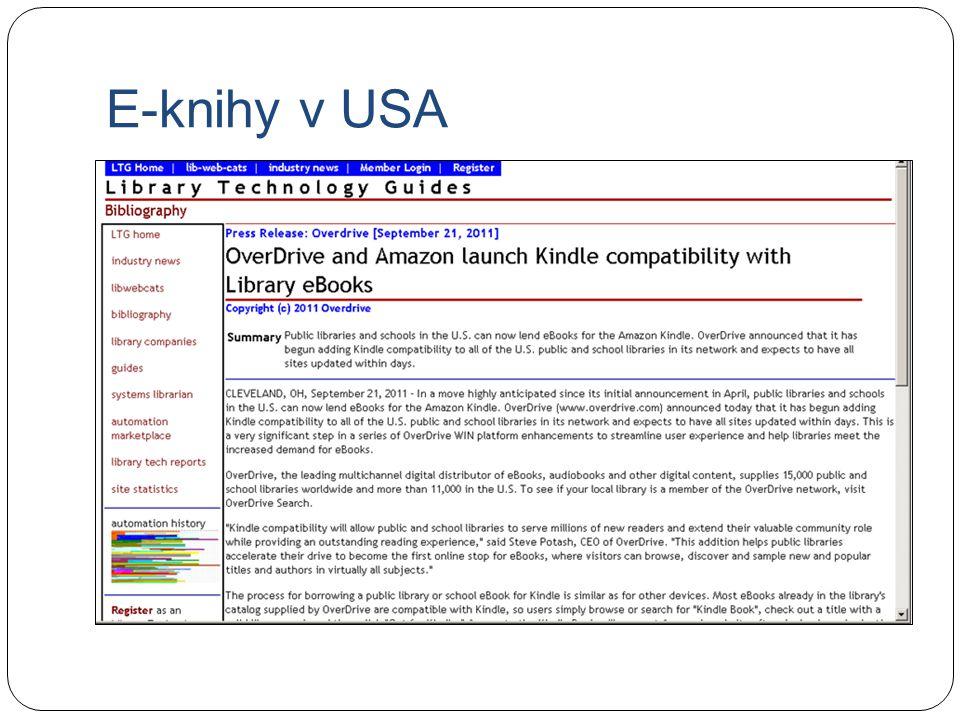E-knihy v USA