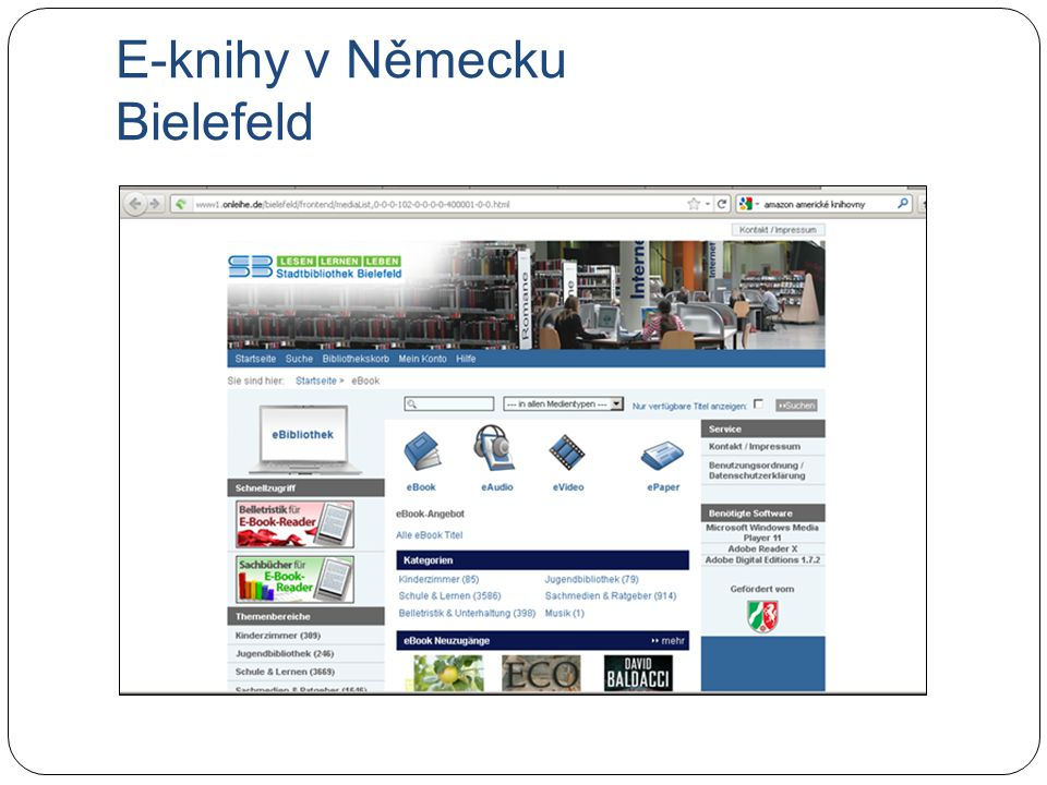 E-knihy v Německu Bielefeld