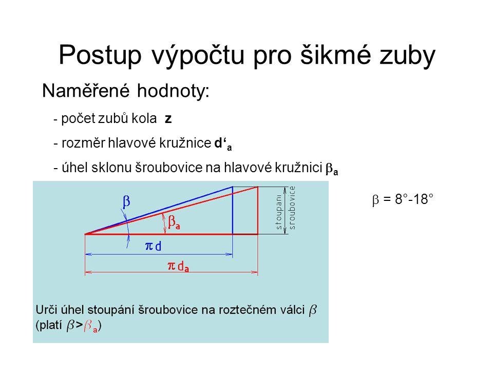 Zjištění modulu m n