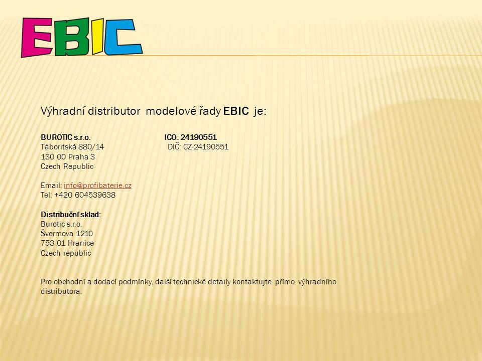 Výhradní distributor modelové řady EBIC je: BUROTIC s.r.o.