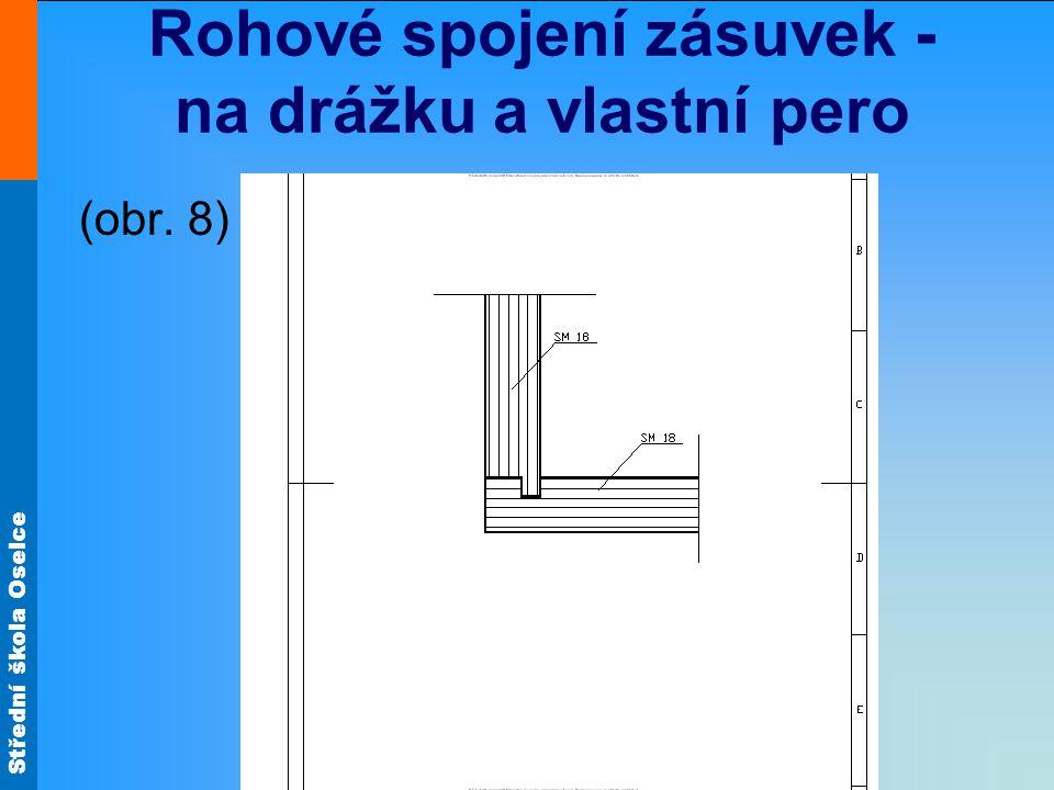 Střední škola Oselce Rohové spojení zásuvek - na drážku a vlastní pero (obr. 8)