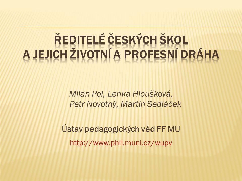 Milan Pol, Lenka Hloušková, Petr Novotný, Martin Sedláček Ústav pedagogických věd FF MU http://www.phil.muni.cz/wupv