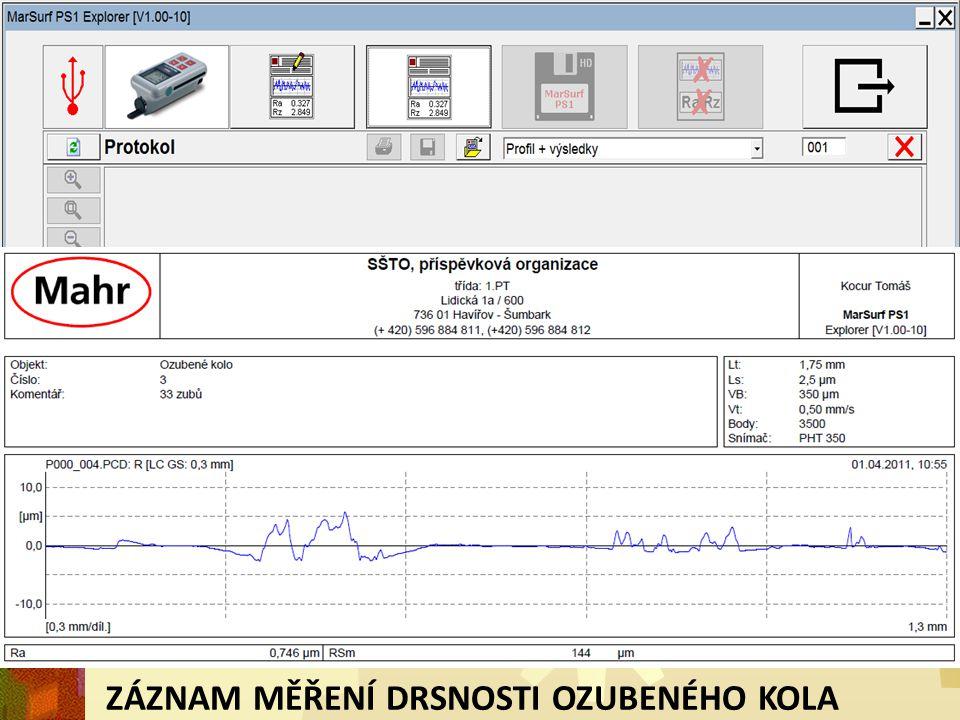 Max.drsnost povrchu R a max [  m] 0,8 Stupeň přesnosti ISO 13285 Max.obvodová rychlost v [m.s -1 ] přímé zuby35 Max.