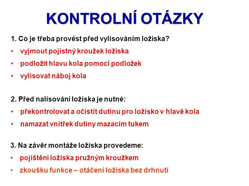 KONTROLNÍ OTÁZKY 2.