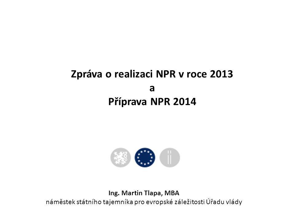 Zpráva o realizaci NPR v roce 2013 a Příprava NPR 2014 Ing.