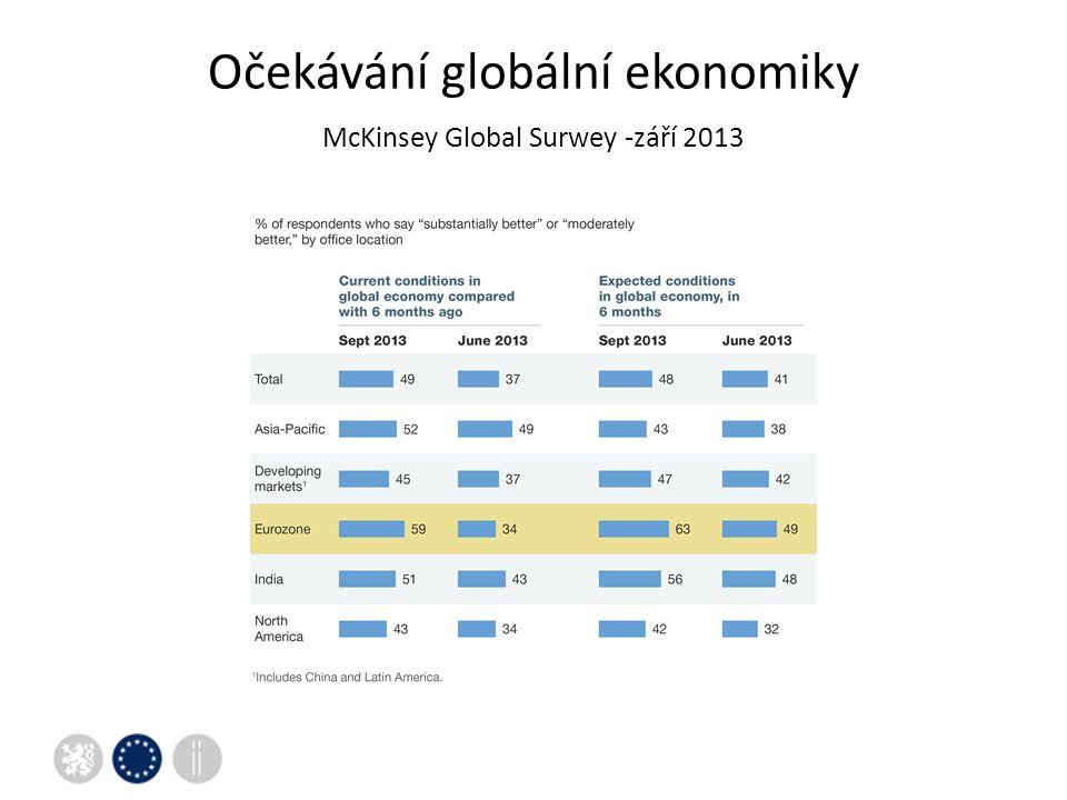 Očekávání globální ekonomiky McKinsey Global Surwey -září 2013