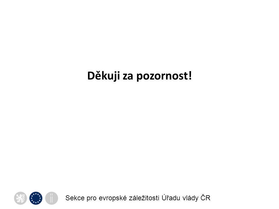 Sekce pro evropské záležitosti Úřadu vlády ČR Děkuji za pozornost!