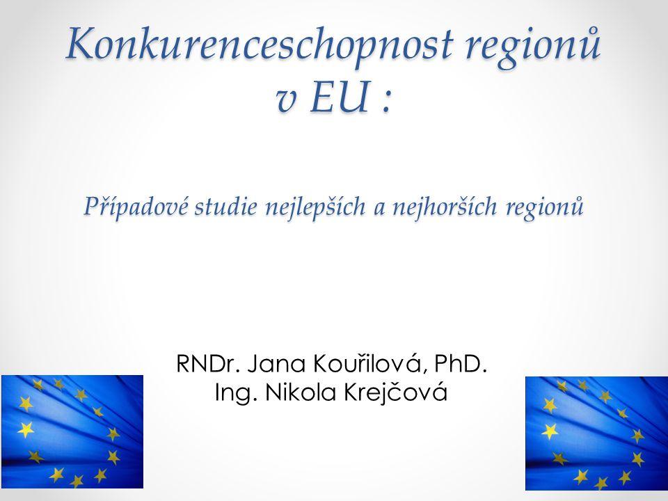 Konkurenceschopnost regionů v EU : Případové studie nejlepších a nejhorších regionů RNDr. Jana Kouřilová, PhD. Ing. Nikola Krejčová