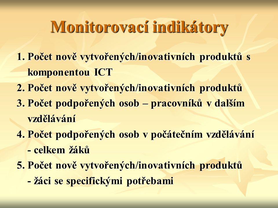 Monitorovací indikátory 1.
