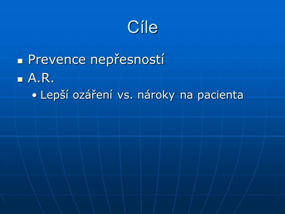 Cíle Prevence nepřesností Prevence nepřesností A.R.