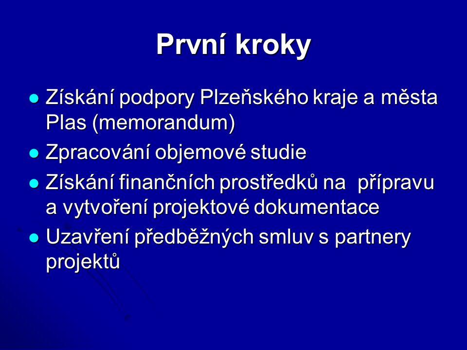 První kroky Získání podpory Plzeňského kraje a města Plas (memorandum) Získání podpory Plzeňského kraje a města Plas (memorandum) Zpracování objemové