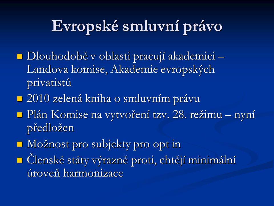 Evropský občanský zákoník.
