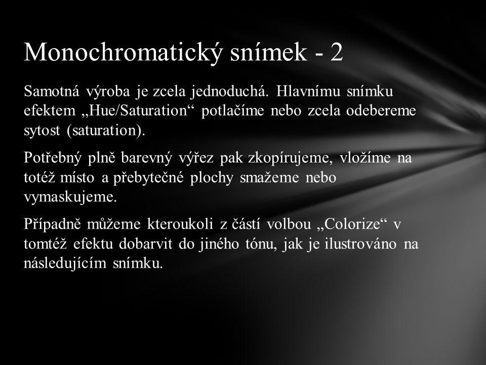 Monochromatický snímek – 3