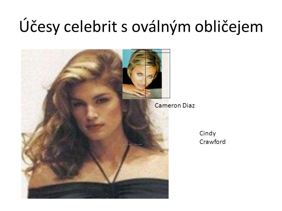 Účesy celebrit s oválným obličejem Jennifer AnistonCindy CrawfordCameron Diaz Jennifer AnistonCindy CrawfordCameron Diaz Cindy Crawford Cameron Diaz