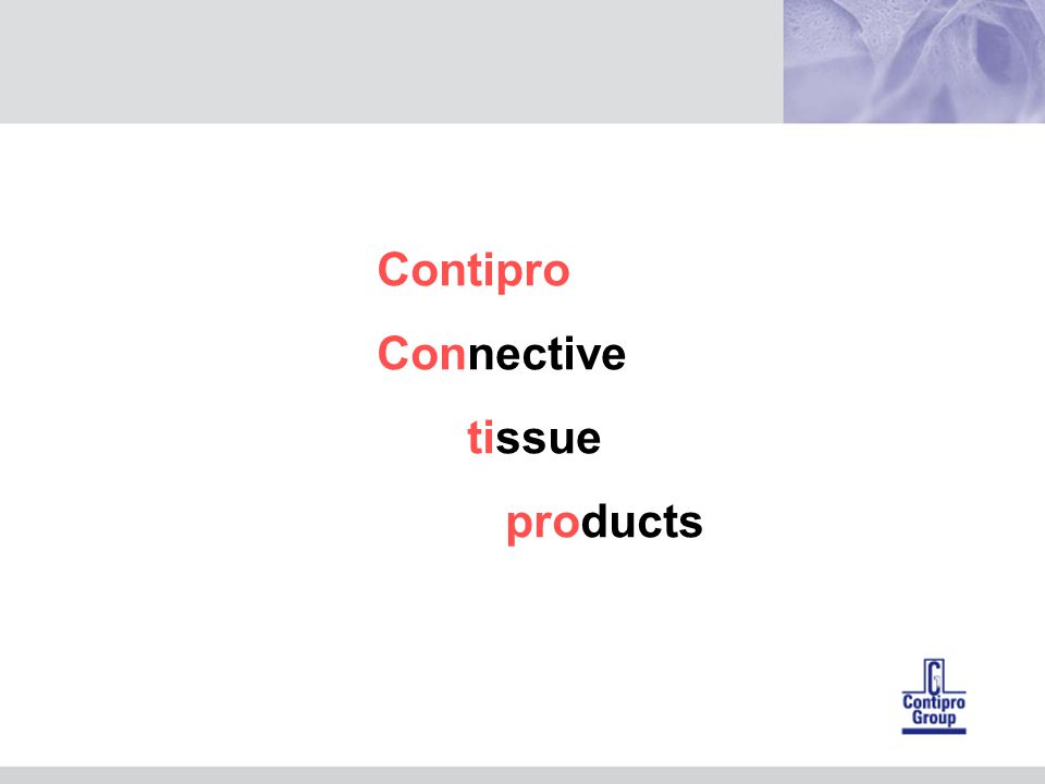 Contipro Connective tissue products